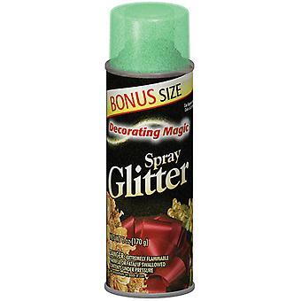 Decorating Magic Spray Glitter 6 Ounces Green Dmsg 0527