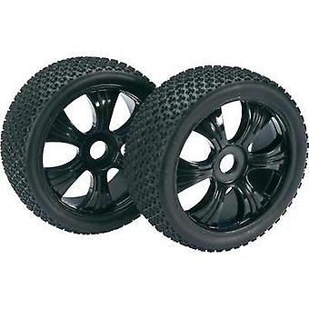 Absima 1:8 Buggy Wheels 3-Pin 6-spoke Black 2 pc(s)