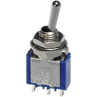 Toggle switch 250 Vac 3 A 2 x On/Off/On APEM 5249A / 52490003 latch/0/latch 1 pc(s)