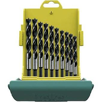 Wood twist drill bit set 10-piece 3 mm, 4 mm, 5 mm, 6 mm, 7 mm, 8 mm, 9 mm, 10 mm, 11 mm, 12