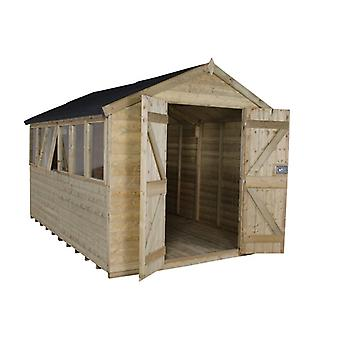 Forest Garden 8 x 12 Tongue & Groove Pressure Treated Garden Workshop