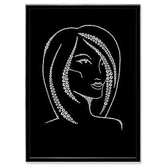 Crystal Art bild kvinna MBP-27