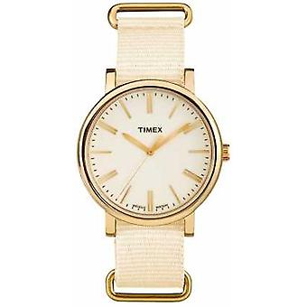 Timex Unisex Cream Dial Cream Fabric Strap TW2P88800 Watch