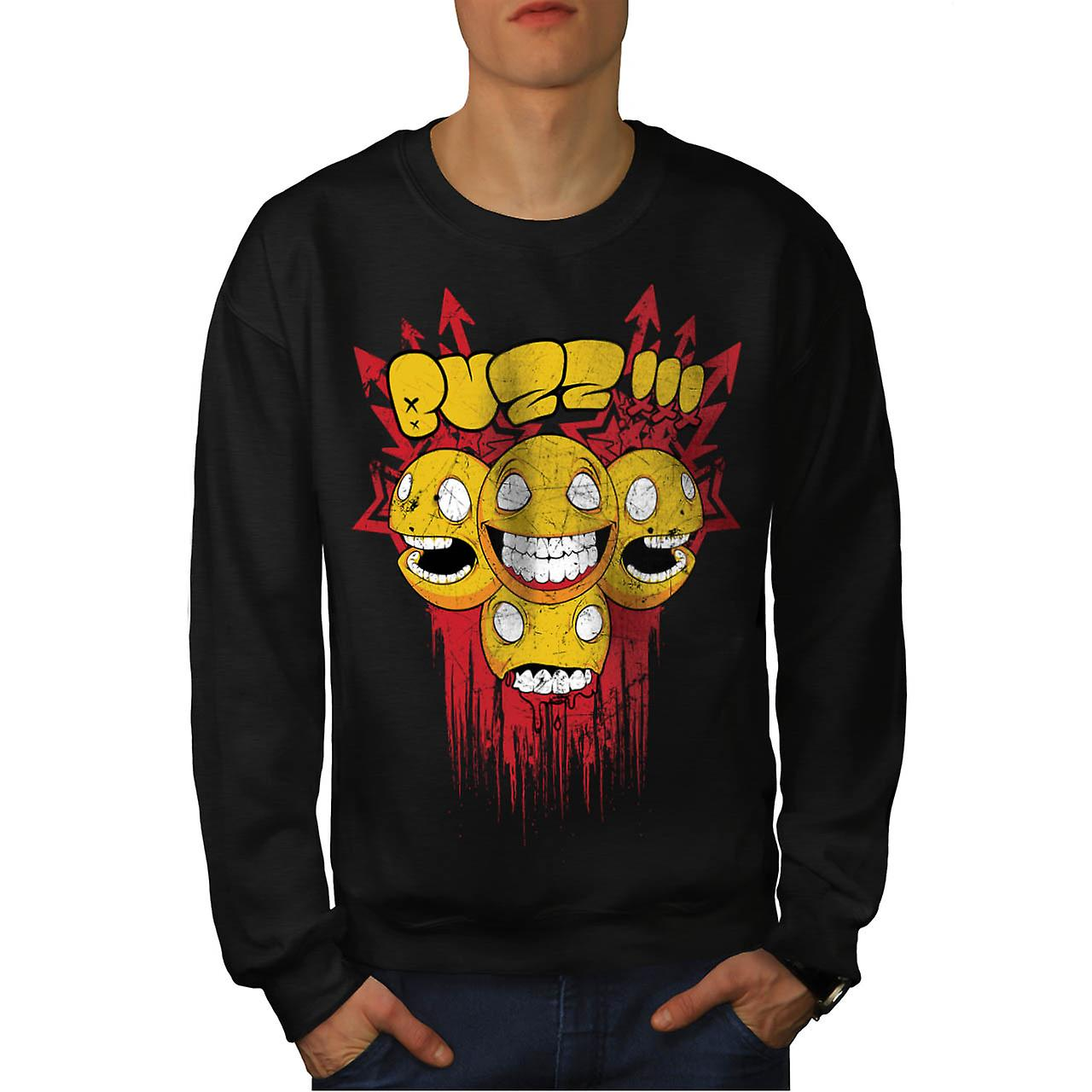 Buzz Zombie Arrow Funny Men Black Sweatshirt | Wellcoda