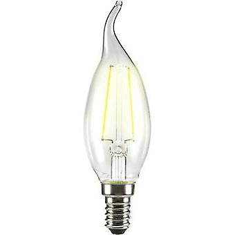LED Sygonix 230 V E14 4 W = 37 W Warm white EEC: A++ Candle angular (Ø x L) 35 mm x 120 mm Filament 1 pc(s)