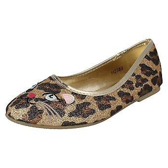 Girls Spot On Slip On Shoes H2389