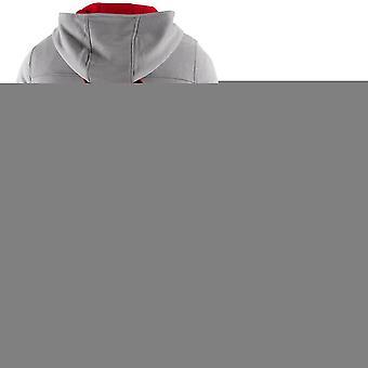 Hayabusa back Classic Fit Zip-Up hættetrøje - grå/rød-boksning mma sweatshirt