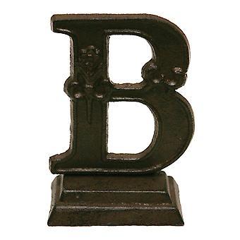 Jern udsmykkede stående Monogram bogstavet B bordplade 5 Inches figur