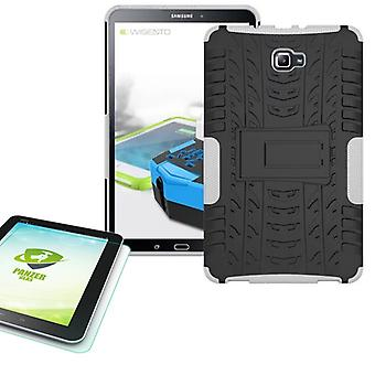 Hybrid outdoor bag white for Samsung Galaxy tab A 10.1 T580 + 0.4 armoured glass