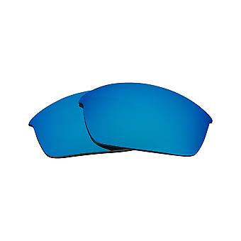 New SEEK Replacement Lenses for Oakley FLAK JACKET Asian Fit Blue Mirror