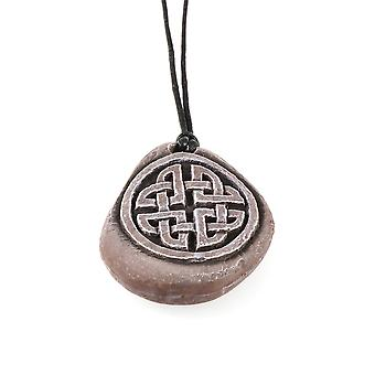 Handmade Stone Effect Celtic Heart Love Knotwork Resin Pendant
