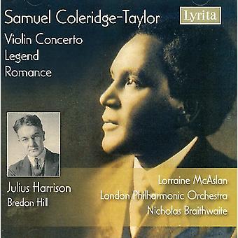 S. Coleridge-Taylor - Samuel Coleridge-Taylor: Violinkoncert; Legenden; Romance [CD] USA importerer