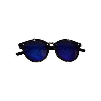 Vintage urban style sunglasses with edgy blue glass