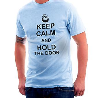Hodor Keep Calm And Hold The Door Game Of Thrones Men's T-Shirt