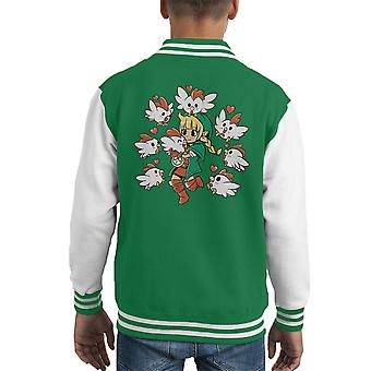 Legende van Zelda Linkle de Cucco koningin Hyrule Warriors Kid Varsity Jacket