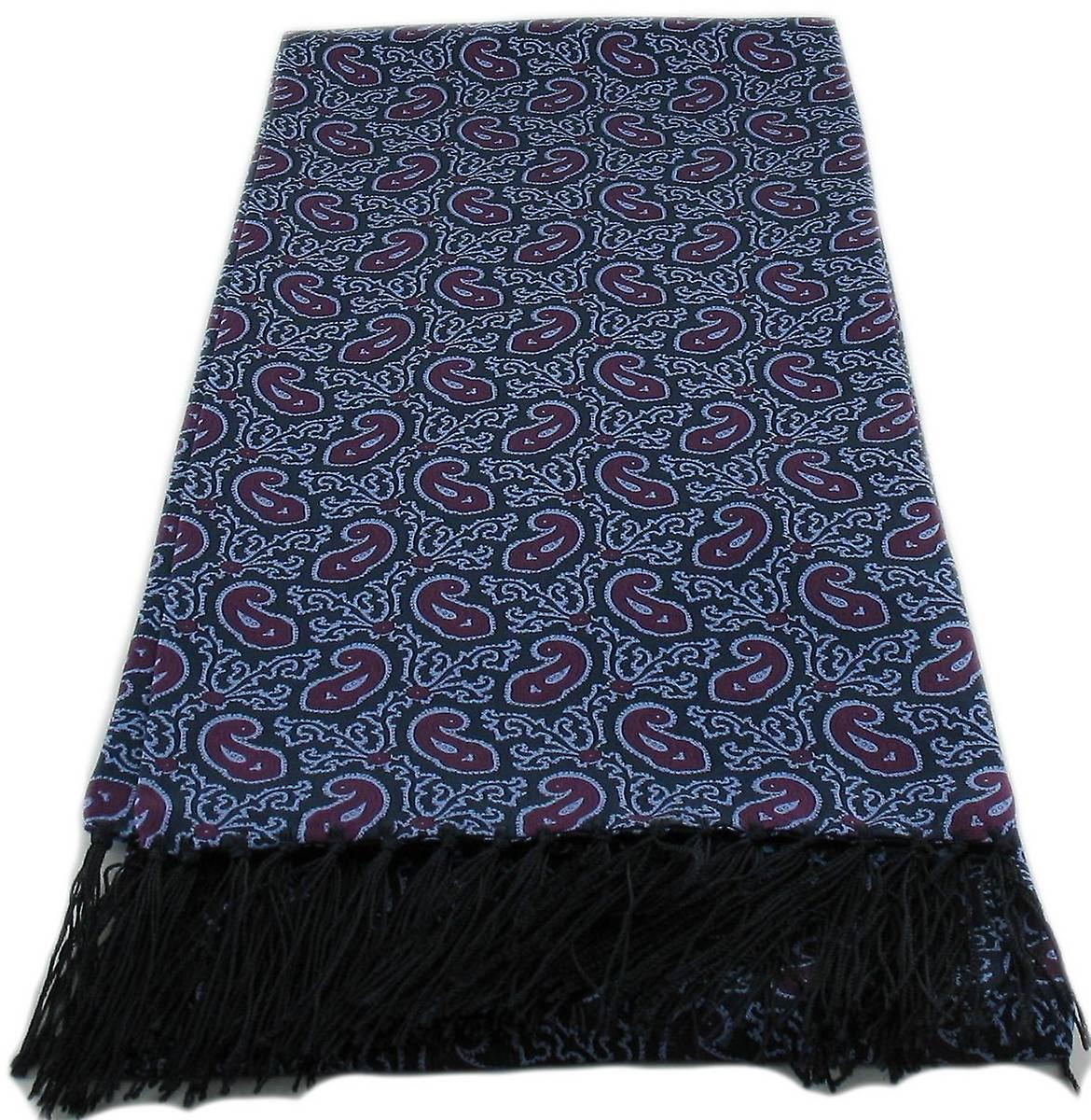 Michelsons of London Small Paisley Silk Scarf - Purple