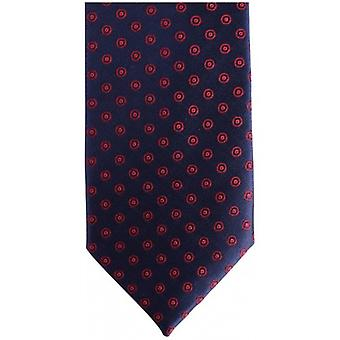 Knightsbridge Neckwear Circles Silk Skinny Tie - Navy/Red