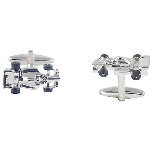 David Van Hagen Racing Car Cufflinks - Silver/Black