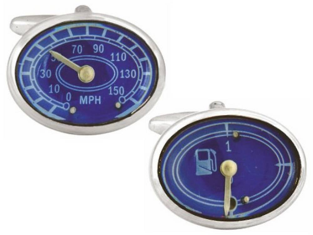 Zennor Dashboard Cufflinks - Blue/Silver