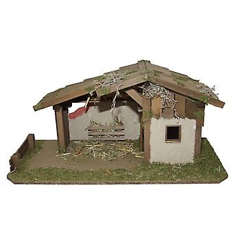 Crib Nativity scene wood Nativity stable ANDREAS hand work for characters up to 13 cm