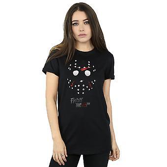 Friday 13th Women's Jason Hockey Mask Boyfriend Fit T-Shirt