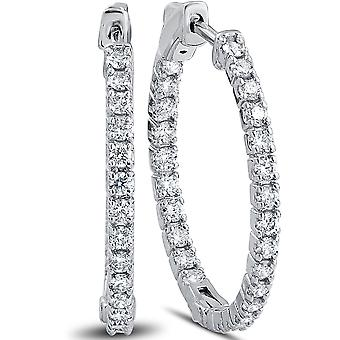 1.50ct Diamond Inside Outside Hoops Vault Lock 1