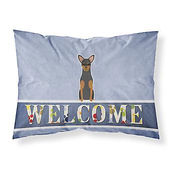 Manchester Terrier Welcome Fabric Standard Pillowcase