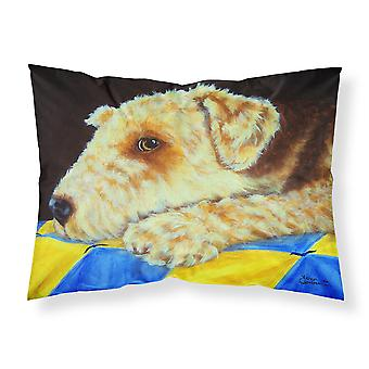 Airedale Terrier Momma's Quilt Fabric Standard Pillowcase