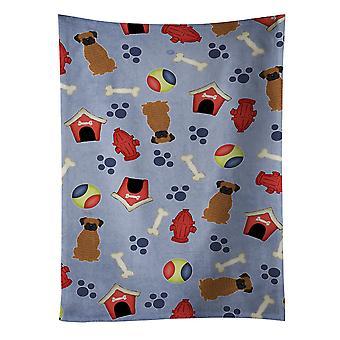 Carolines tesouros BB2730KTWL cachorro casa coleção Boxer tigrado toalha de cozinha
