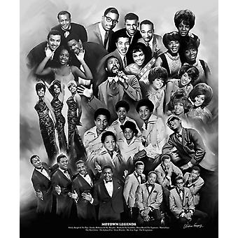 Motown Legends Poster Print by Wishum Gregory (20 x 24)