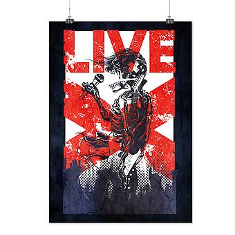 Matte or Glossy Poster with Skull Live Sing Fantasy | Wellcoda | *d2851