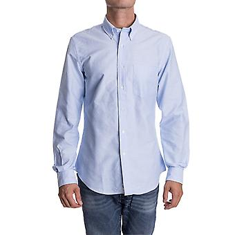 Aspesi mens CE14B03201126 light blue cotton shirt