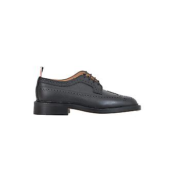 Thom Browne men's MFD002A00198001 black leather lace-up shoes