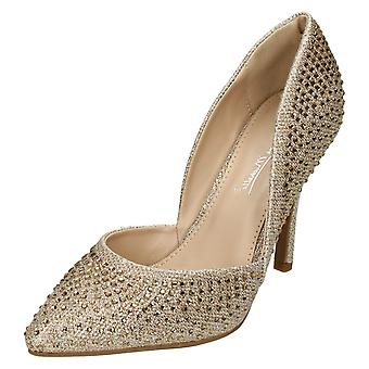 Ladies Anne Michelle High Heel Walsted Court Shoes F9985