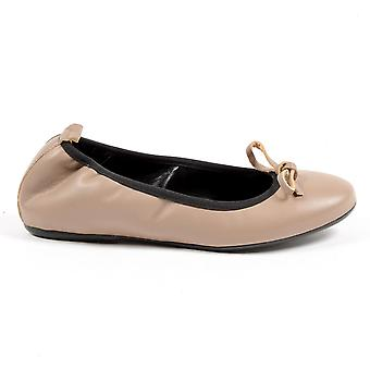 Andrew Charles Womens Soft Ballerina Taupe Gwen