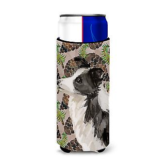 Border Collie Pine Cones Michelob Ultra Hugger for slim cans