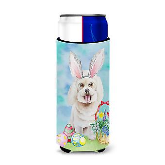 Bichon Frise Easter Bunny Michelob Ultra Hugger for slim cans