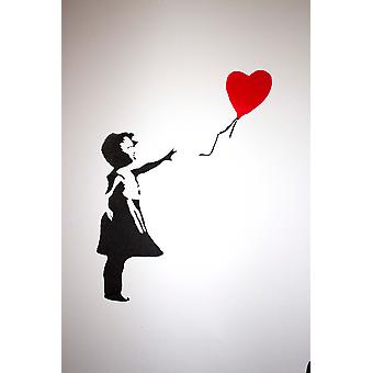GNG Banksy Ballon Girl Childrens Wall Art Decal Vinyl Stickers Picture for Boys/Girls Bedroom