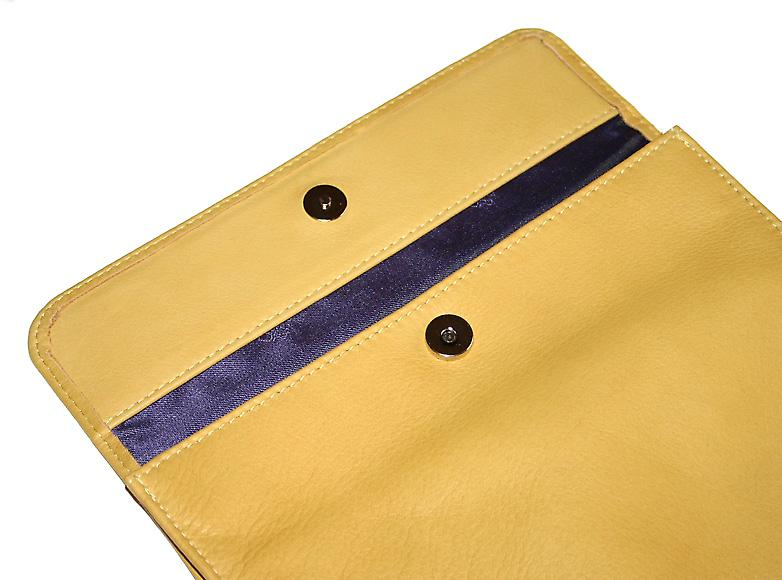 Luxurious Maize Leather & Silk iPad Cover