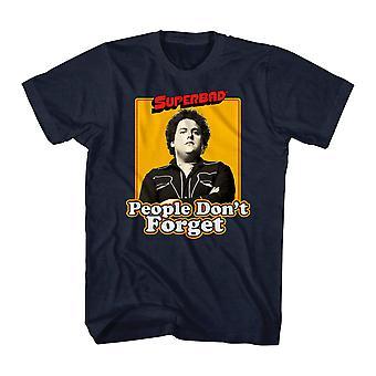 Super dårlig glemme aldrig mænds sort T-shirt