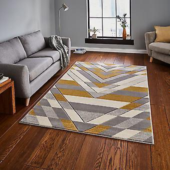 Pemboke G2075 Beige rectángulo amarillo alfombras alfombras modernas