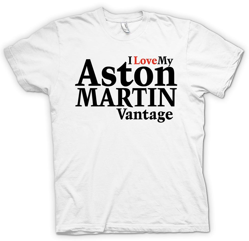 Womens T-shirt - I Love My Aston Martin Vantage - Car Enthusiast