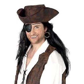 Pirat ögonlapp & örhänge - kardade
