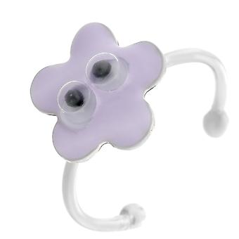 Orphelia Silber 925 Kinder Ring Lila Flower ZR-7