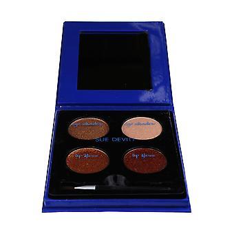 Sue Devitt agradable sombra de ojos y paleta de brillo de labios nuevo en caja