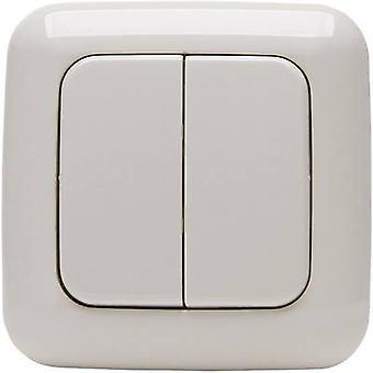 Kopp Free Control 4-channel Wireless wall-mounted switch STANDARD 2/4 Cream-white