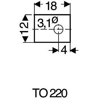 Mica sheet (L x W) 18 mm x 12 mm Suitable for TO 220 Fischer Elektronik GS 220 P 1 pc(s)