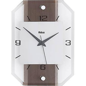 Classic Glass Quartz Walnut Wall Clock