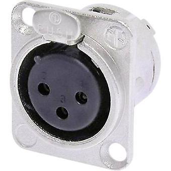 XLR connector Sleeve socket, straight pins Number of pins: 3 Silver Neutrik NC3F-DL-1 1 pc(s)