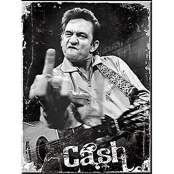 Johnny Cash Finger stål kylskåpsmagnet